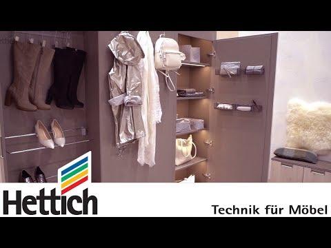 Raum gewinnen: Der Schuhschrank mit Spiegel im Flur auf der Interzum 2017
