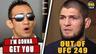 Tony Ferguson Reacts to the CANCELATION of Khabib fight,Poirier offers to fight,Dana White on UFC249