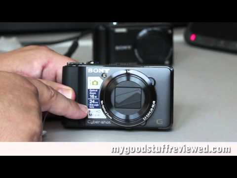 Sony DSC-HX9V compact digital camera unboxing and quick review part 1 - no background music