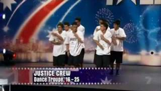 Justice Crew - Australia's Got Talent Audition.