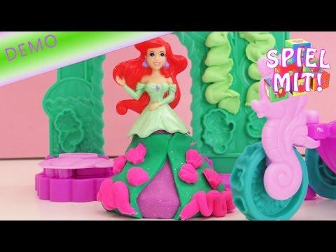 Arielle die Meerjungfrau Play Doh – Unterwasser Schloss und Prinzessinnenkleid kneten Demo