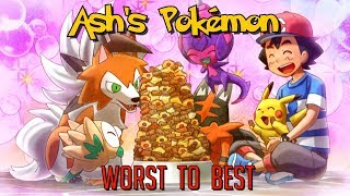 All of Ash Ketchum's Pokemon Ranked from Worst to Best