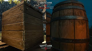 The Witcher 3 HD Reworked Project 12 Ultimate - Environment Objects Quality Preview