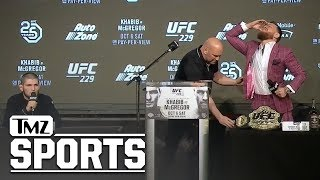 Craziest Moments From McGregor Khabib UFC 229 Press Conference   TMZ Sports
