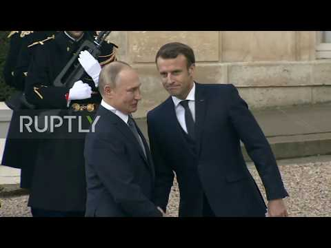 France: Putin arrives at Elysee Palace for 'Normandy Four' talks