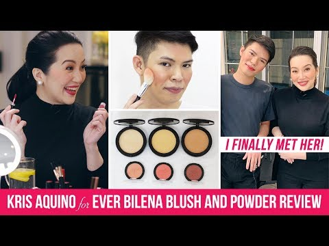 MAGANDA BA?!!! KRIS AQUINO x EVER BILENA BLUSH AND POWDER REVIEW + I FINALLY MET HER!!!