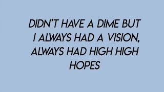 high hopes - panic! at the disco (lyrics)