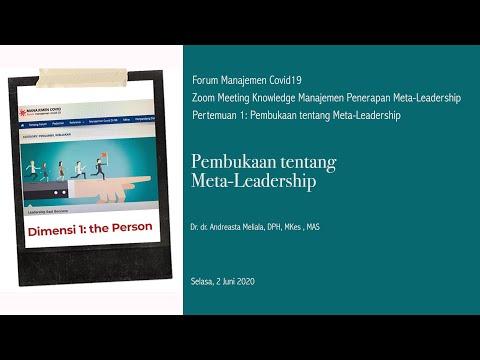 Pembukaan Webinar Kepemimpinan Lembaga Kesehatan di masa Covid-19: Mengkaji apa yang Meta-Leadership