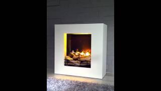 Elektrokamin LINEA Von Kamin Design.com Faber Opti