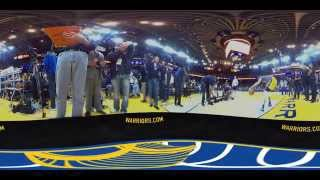 Dubs360: Stephen Curry pregame warmup routine