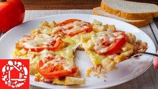 Необыкновенно вкусный Завтрак Из Яиц с колбасой и хлебом