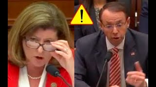 Congresswoman Confronts And DESTROYS Rod Rosenstein Over Mueller's Team!