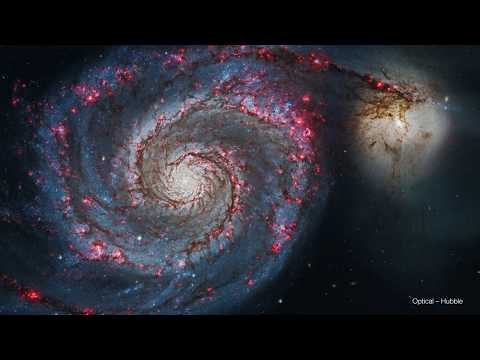 See the Whirlpool Galaxy in Visible and X-ray Light