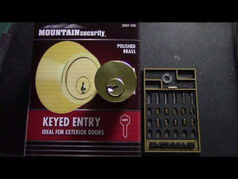 (049) Mountain Security Rim Cylinder Picked/Gutted **Still Time 2 Enter Giveaway**