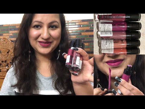 Wet N Wild Catsuit Liquid Lipstick Lip Swatches/ Honest Review