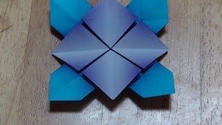 折り紙おりがみ・アジサイの折り方A