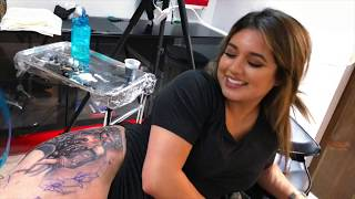 31. DOPE THIGH PIECE FULL DAY SESSION - IShine Ink VLOG!