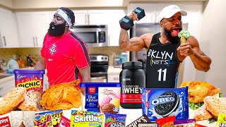 Eating The James Harden Diet & Workout For 24 Hours!