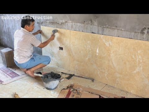How To Install Wall Tiles For Living Room With Size 80x80 cm - Build Step By Step