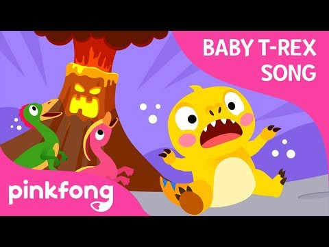 The Volcano Is Erupting | Baby T-Rex Songs | Dinosaur Songs | Pinkfong Songs for Children