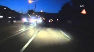 preview picture of video 'Motorrad fahren: Ich bremse auch für Tiere, z.B. Gänse, Kühe, Schnepfen ;-)  HD BitfW'