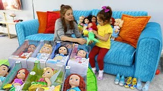 Buying  Princess Dolls and Shoes