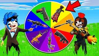 !LA RULETA DE LAS ARMAS EN FORNITE! 🎯🔫 ARMA NOOB VS ARMA PRO VS ARMA HACKER