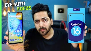 Tecno Camon 16 - Unboxing & Hands On💪| 64MP Cam | Helio G70 | 16MP Eye Autofocus | Under Rs.11,000😍