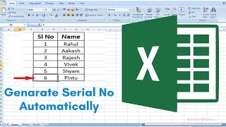 Automatic Serial Number in Excel