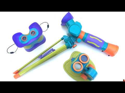 Juguetes STEM - telescopio, microscopio y prismáticos Dideco - Una Mamá Novata