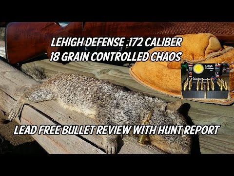 Lehigh Defense .172 Caliber 18 Grain Controlled Chaos vs Ground Squirrel