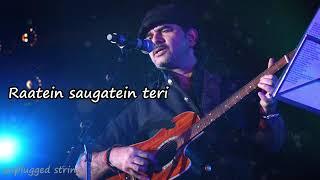 Tum Se Hi   Mohit Chauhan   Unplugged Version   Jab We Met   Mtv Unplugged   Lyrical Video     YouTu