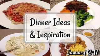 WHAT'S FOR DINNER? | JANUARY 12-17 | EASY MEAL IDEAS | MANDY IN THE MAKING