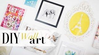 DIY Tumblr Gallery Wall Art Pinterest Inspired | ANN LE