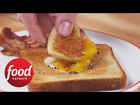 Eat Your Heart Out: Egg-in-a-Heart + Bacon | Food Network