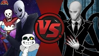 W. D. GASTER vs SLENDERMAN! (Undertale vs Creepypasta) Cartoon Fight Club Episode 145