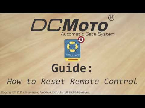 How to reset Remote Control (DCMoto)