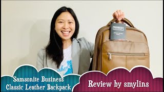 Samsonite Business Classic Leather Backpack