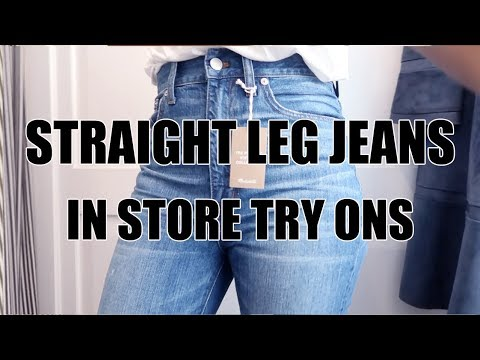 BEST STRAIGHT LEG JEANS CHALLENGE: MADEWELL, H&M, TOPSHOP + MORE!!!