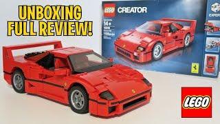 UNBOXING & FULL REVIEW - LEGO FERRARI F40 10248 - Creator Expert Construction Set