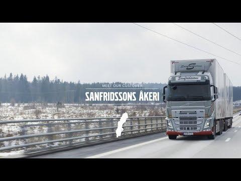 Sanfrīdsonu (Sanfridssons) uzņēmums laika gaitā no maza reģionāla pārvadājumu uzņēmuma ir attīstījies par modernu pakalpojumu uzņēmumu, kas darbojas visā valstī.