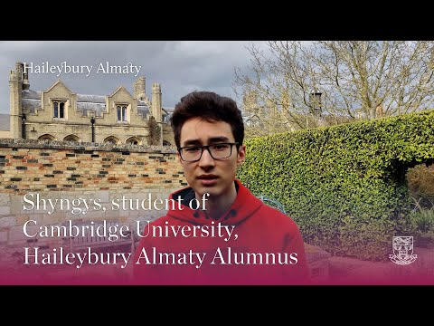 Shyngys, student of Cambridge University