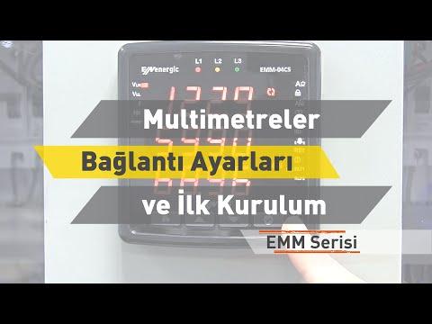 ENTES EMM Serisi Multimetreler - Bağlantı Ayarları ve İlk Kurulum