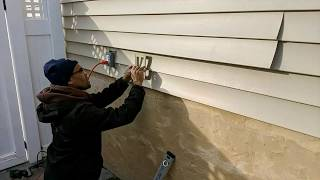 How to Install Mounting Block to existing siding for new water valve.