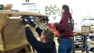 Steam bending planks
