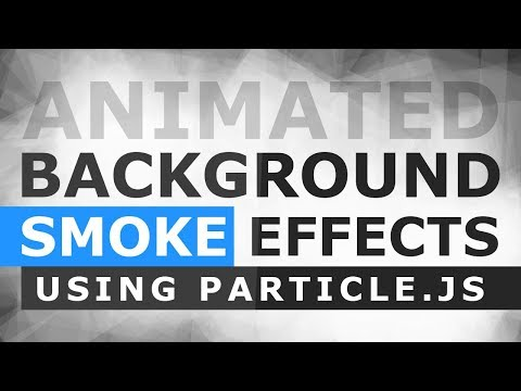 Animated Smoke Background Effects Using Particle.js - Particle Smoke Effect