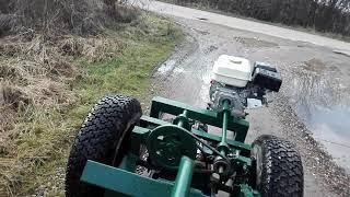 Tractor Motocultor Homemade( La Sosea Cu Viteza Max)