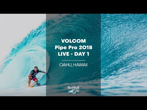 Surfing LIVE – Volcom Pipe Pro 2018 – Day 1