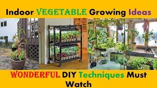 DIY Indoor Vegetable Growing Ideas. Indoor Vegetable Garden. Indoor Vegetable Plants.