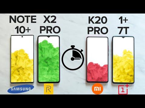 CHARGING TEST - Realme X2 Pro vs K20 Pro vs OnePlus 7T vs Note10+🔥